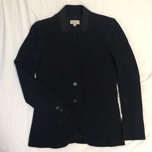 Black Notched Collar Blazer